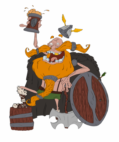 HappyViking_FlatColour