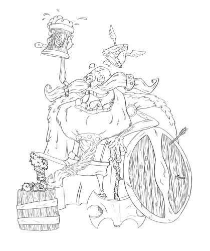HappyViking_Lineart